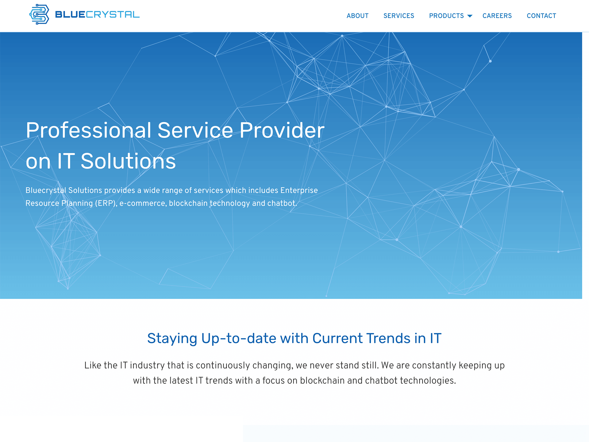 Bluecrystal Solutions website